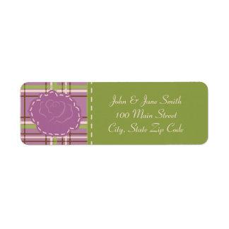 Country Garden Wedding Return Address Label