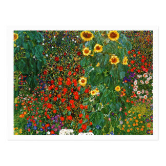 Country Garden with Sunflowers Postcard