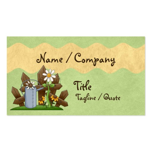 Country Gardener Business Card Templates