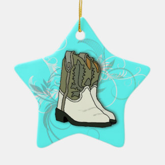 Country Girl Rodeo Cowgirl Boots Christmas Ornament