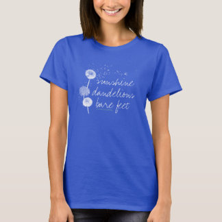 country girl t-shirt, dandelions, sunshine, farm T-Shirt
