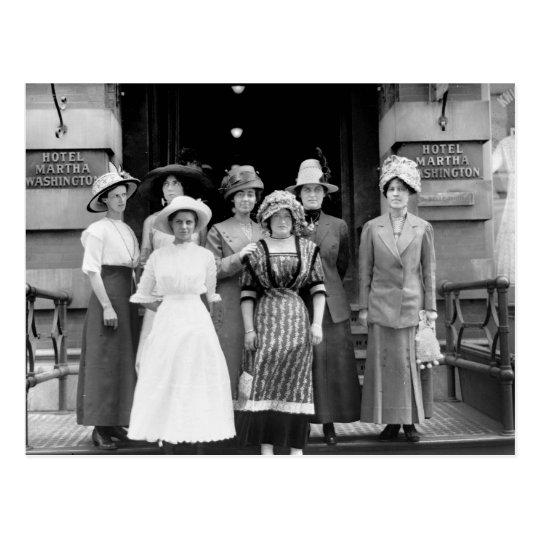 Country Girls Take New York, 1910 Postcard