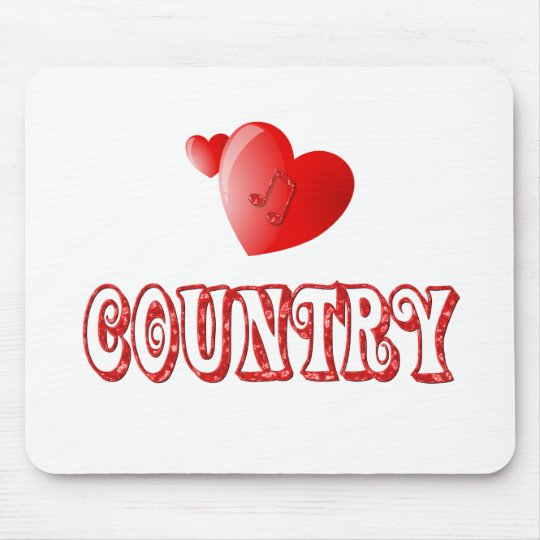 Country Hearts Mouse Pad
