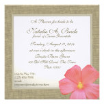 Country Hibiscus Tropicl Bridal Shower Announcement