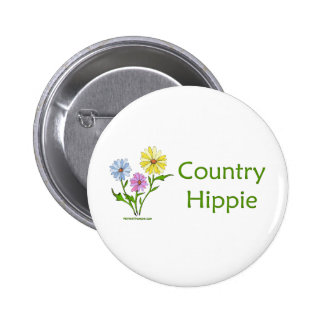 Country Hippie 6 Cm Round Badge
