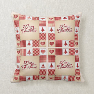 Country Holiday Wishes Christmas Throw Pillow