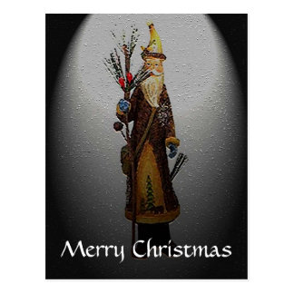 Country Home Santa Claus Christmas Postcard