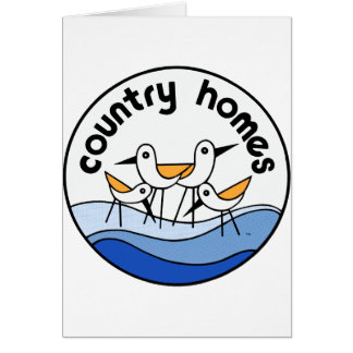 Country Homes Logo Greeting Card
