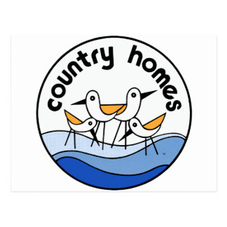 Country Homes Logo Postcard