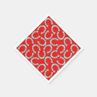 Country Horse shoe pattern paper napkins