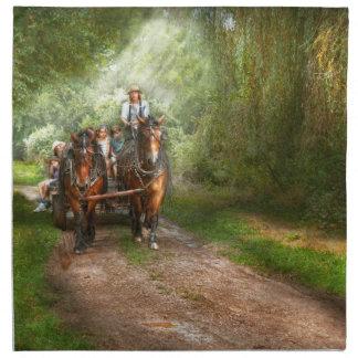 Country - Horse - The hay ride Napkin