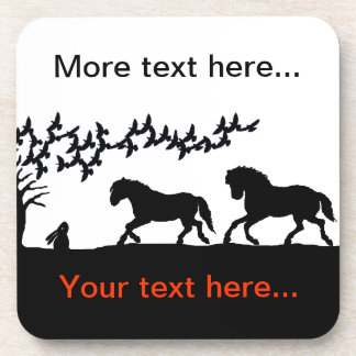 Country Horses & Hare Coaster
