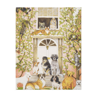 Country House Party Canvas Print