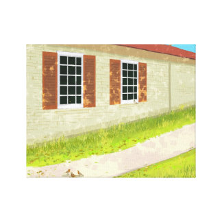 country house Stretched Canvas Print