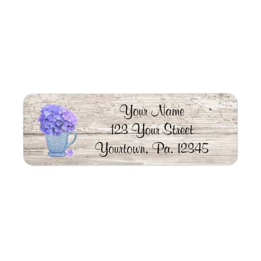 Country Hydrangea Address Label