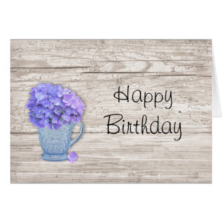 Country Hydrangea Birthday Card