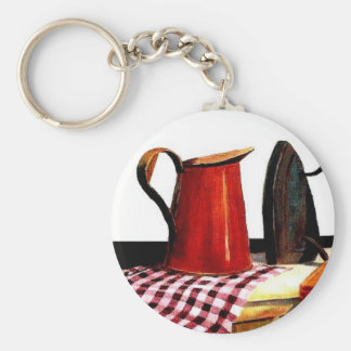country Iron Basic Round Button Key Ring