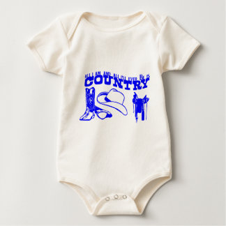COUNTRY IS ALL I AM BABY BODYSUIT