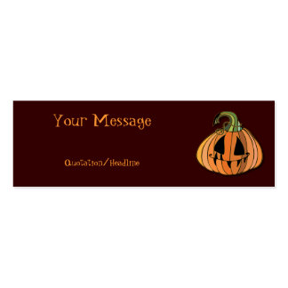 Country Jack-o-lantern Pumpkin Double-Sided Mini Business Cards (Pack Of 20)