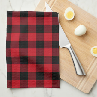 Country kitchen buffalo plaid towel
