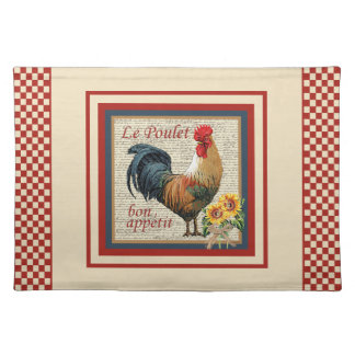 Country Kitchen-Rooster Place Mats