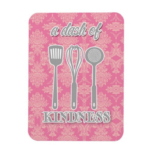 country kitchen - silverware on floral damask. flexible magnet