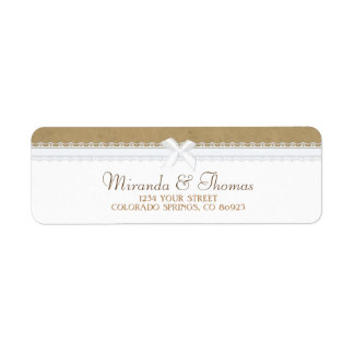 Country Lace Address Labels