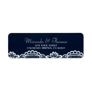 Country Lace & Denim Address Labels