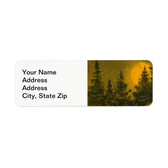 """Country landscapes scenic views  hunter""""s moon . return address label"""