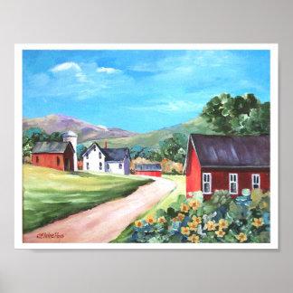 Country Lane Farm Poster