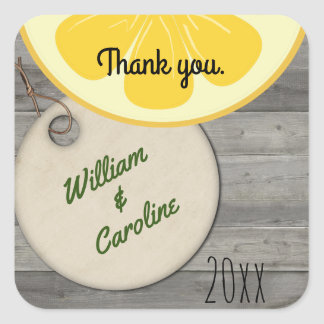 Country Lemonade Mason Jar Thank You Sticker