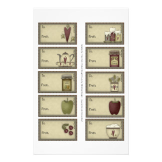Country Life Gift Tags on a Sheet - 10 Designs 14 Cm X 21.5 Cm Flyer