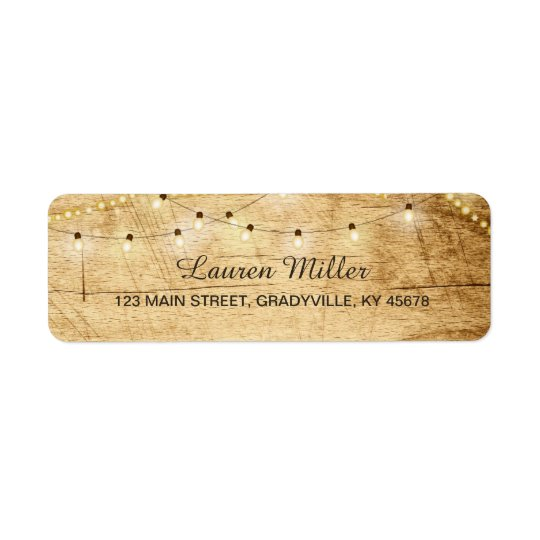 Country Lights address label small size