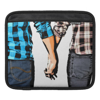 Country Love  Couple Holding Hands Sleeve For iPads