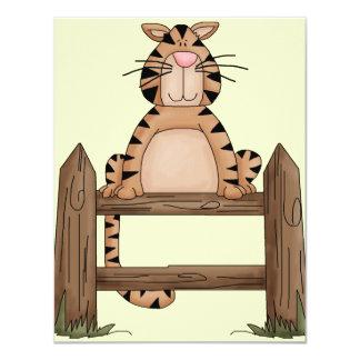Country Loving Cat 11 Cm X 14 Cm Invitation Card