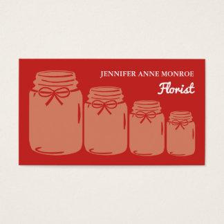 Country Mason Jars, Florist Business Card