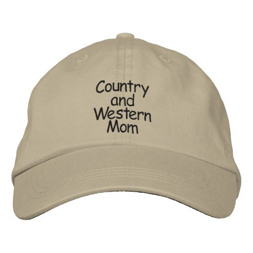 Country  Mom Embroidered Hats