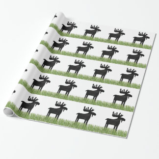 Country Moose Unique wrapping paper