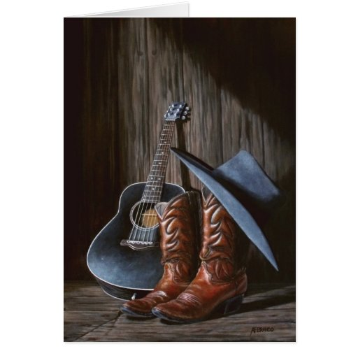 "Country Music ""Boots"" card"