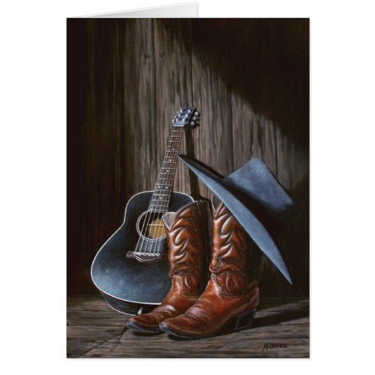 """Country Music """"Boots"""" card"""