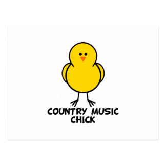 Country Music Chick Postcard