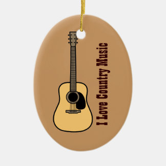 Country Music Christmas Ornament