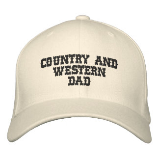 Country Music DAD Embroidered Hat
