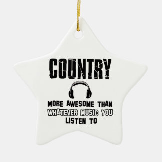 country music design christmas ornament