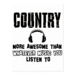 country music design postcard