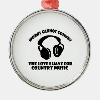 Country Music designs Christmas Ornament