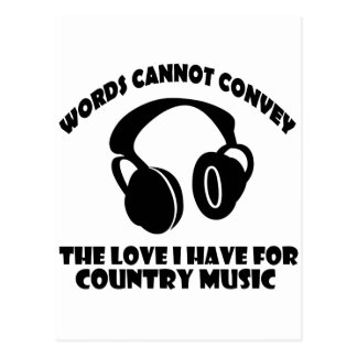 Country Music designs Postcard