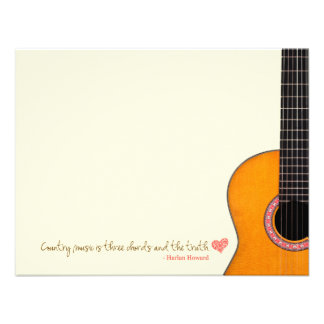Country Music is Three Chords Note Cards CMAs Personalized Announcement