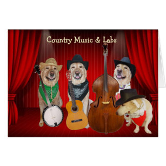Country Music & Labs Customizable Birthday Card