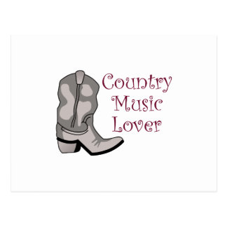 COUNTRY MUSIC LOVER POSTCARD